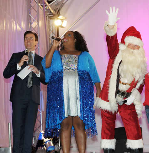 Santa with Stars from 2014's Strictly Come Dancing