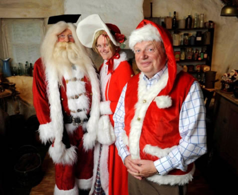 John Sergeant with Santa and Mrs Claus
