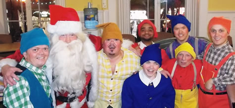 Santa with the Cast of the Sands Centre Snow White  & Seven Dwarfs 2013