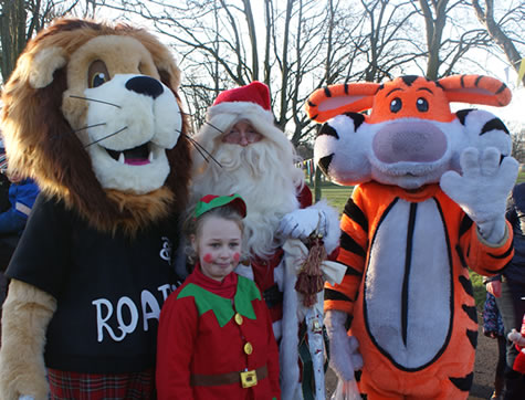 Santa and Friends at The Challenge Scotland Edinburgh Toddlers walk 2012